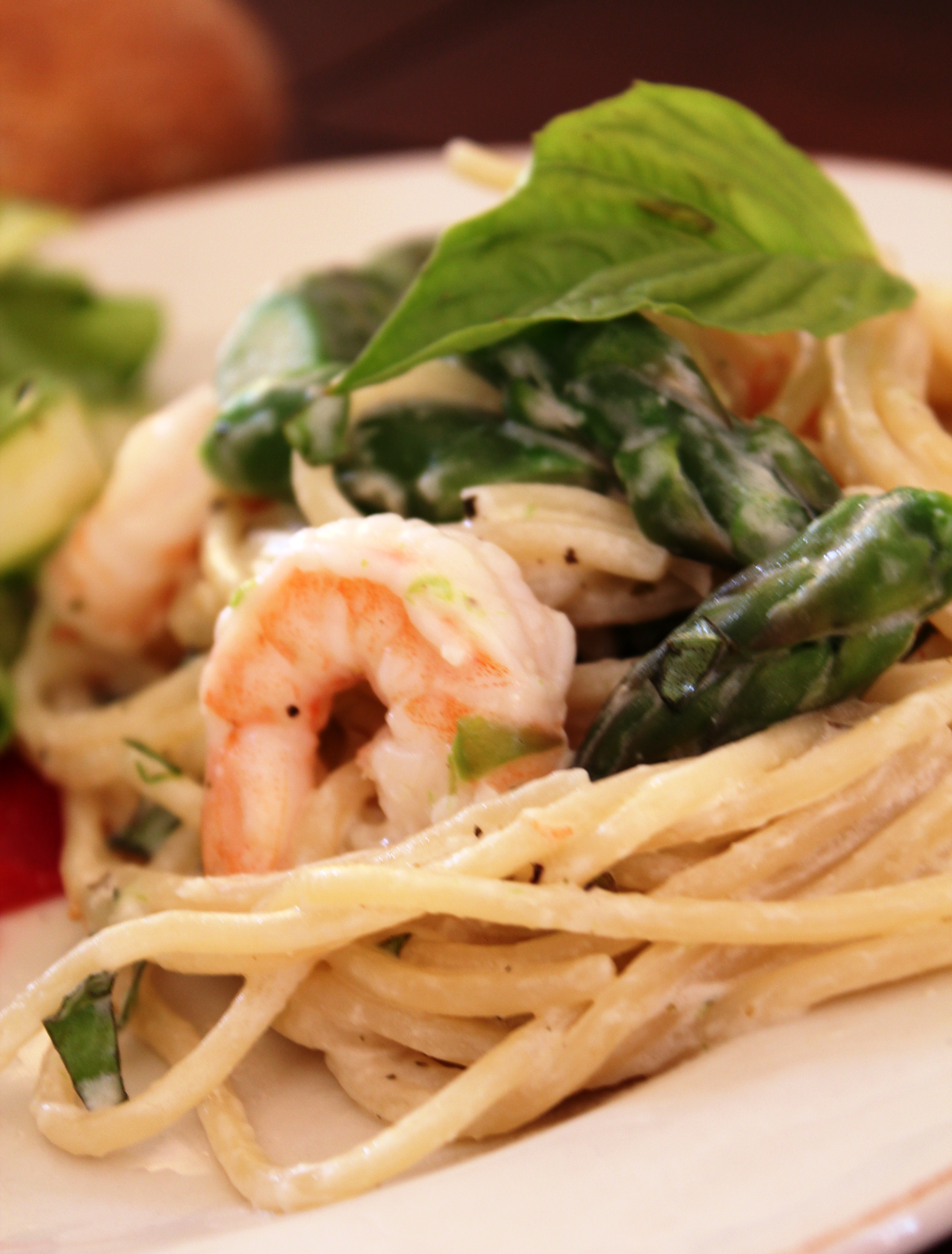 Pasta with Shrimp, Asparagas & Herbed Goat Cheese | There ...